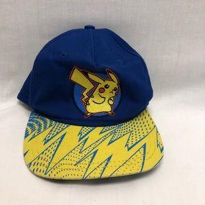 Pokemon Pikachu Flat Bill Snap Back Hat Youth Cap